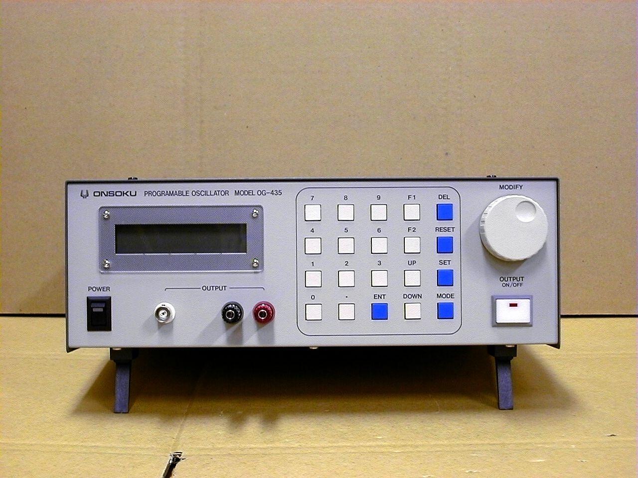 Og 435 Programmable Oscillator Onsoku Web Site English Audio Oscillators Product Summary This Is Designed For