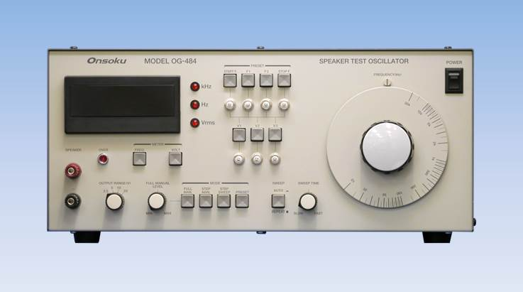 Og 484 Speaker Test Oscillator Onsoku Web Site English Frequency Audio Variable Circuit Product Summary This Allows Manual And Automatic Sweeping Of The Oscillation